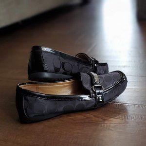 Coach Felisha Black Loafers Size 8.5